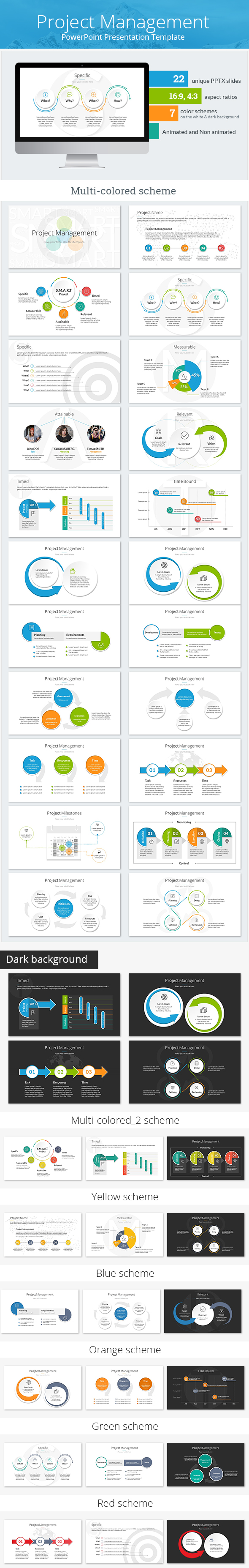 Project Management PowerPoint Presentation Template by SanaNik ...