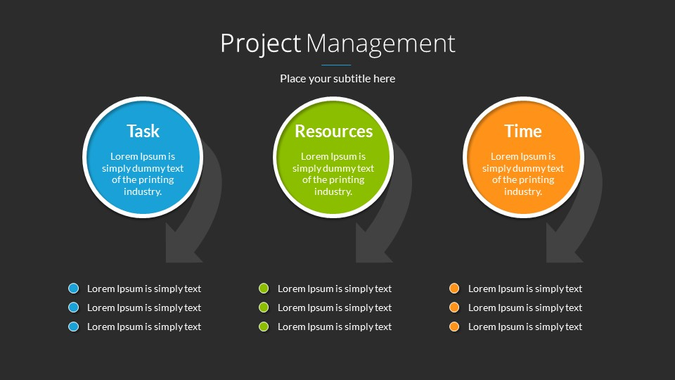 project management powerpoint presentation templatesananik, Presentation templates