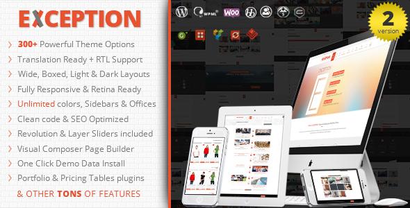 EXCEPTION Responsive Multi-Purpose WordPress Theme