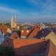 Kaptol and Catholic Cathedral  in the Center of Zagreb, Croatia, Panoramic View