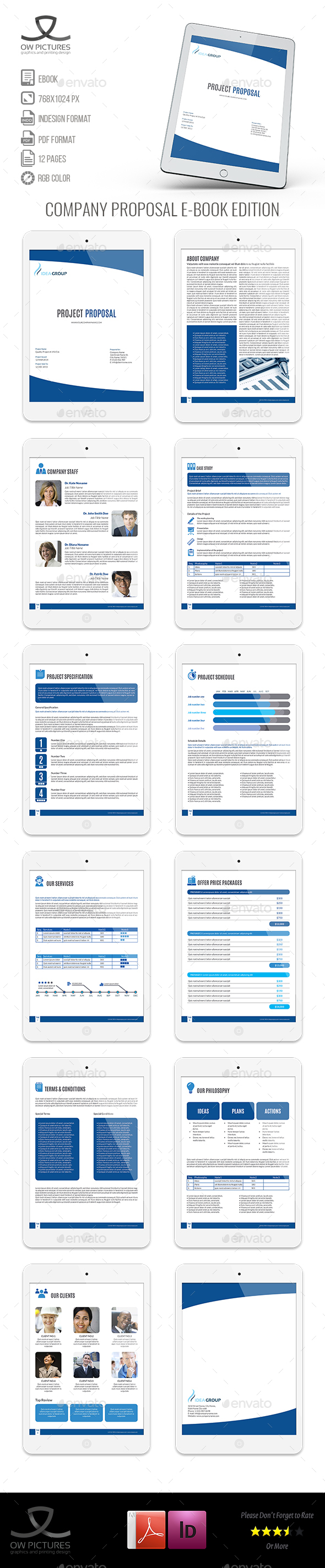 Company Proposal E-Book Template - 12 Pages - ePublishing