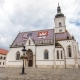 Church of St. Mark  Hyperlapse and Parliament Building Zagreb, Croatia.