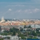 Panorama of the City Center  of Zagreb, Croatia, with Modern and Historic Buildings, Museums in Th