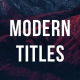 45 Modern Titles - VideoHive Item for Sale