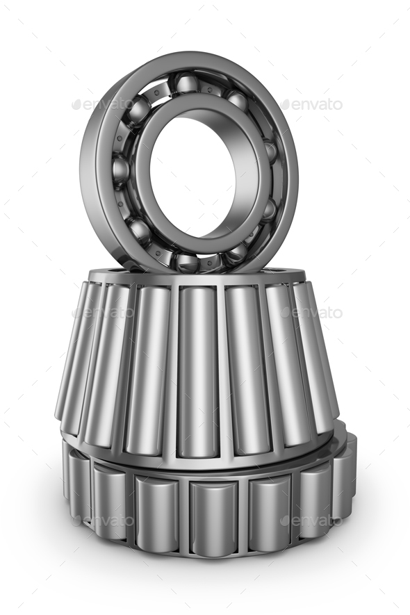 The various bearings - Objects 3D Renders