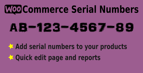 WooCommerce Serial Numbers - WordPress Plugin - CodeCanyon Item for Sale
