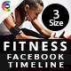 Fitness Facebook Timeline Cover - GraphicRiver Item for Sale