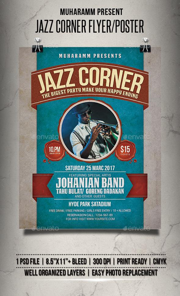Jazz Corner Flyer / Poster - Events Flyers