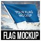 Flag MockUp - GraphicRiver Item for Sale