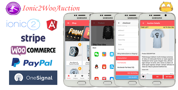 Ionic2WooAuction-ionic 2 Auction App with WooCommerce - CodeCanyon Item for Sale
