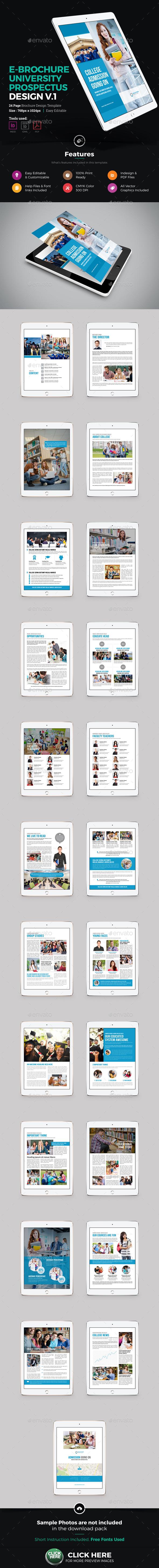 E-Brochure University Prospectus Design v1 - ePublishing