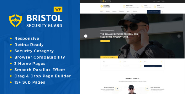 Bristol - Security & Guarding Services WordPress Theme
