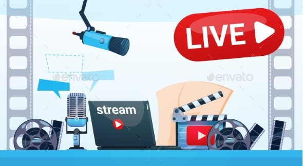 Video Blog Camera Online Stream Blogging Subscribe - Web Technology