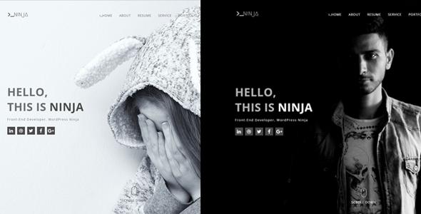 Ninja – One Page Personal Portfolio Template