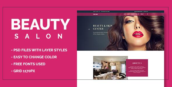 Beauty Salon Onepage PSD - Health & Beauty Retail