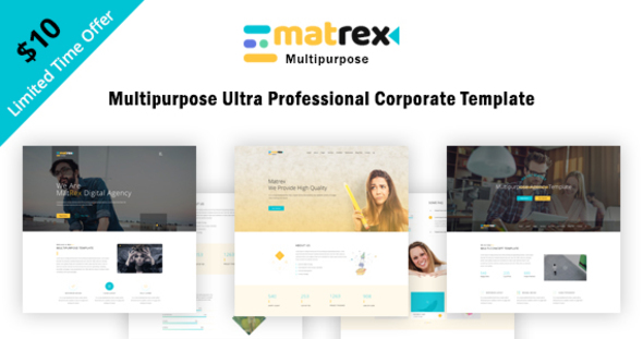 Matrex – Ultra Professional Multipurpose Template