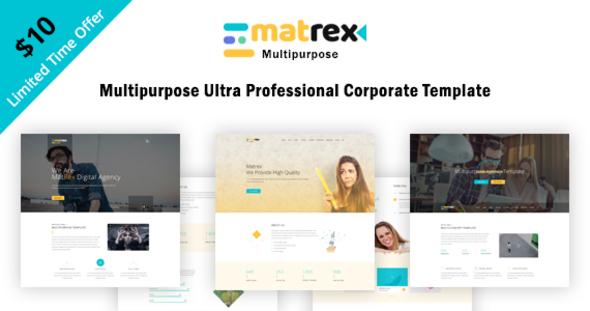 Matrex – Ultra Professional Multipurpose Template
