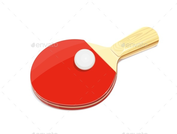 Table Tennis Racket and Ball - Sports/Activity Conceptual