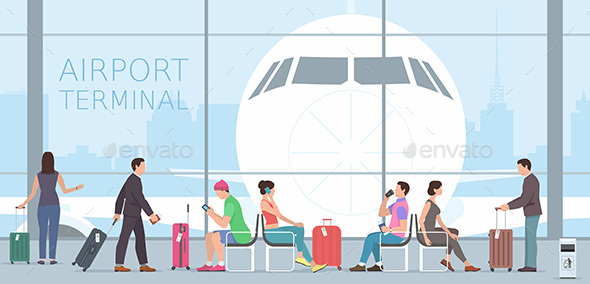 Airport Terminal - Travel Conceptual