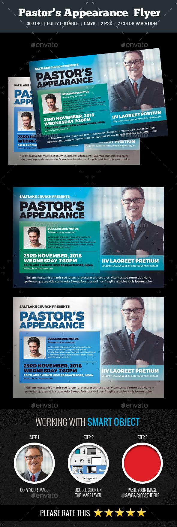 Pastor's Appreciation Church Flyer - Church Flyers