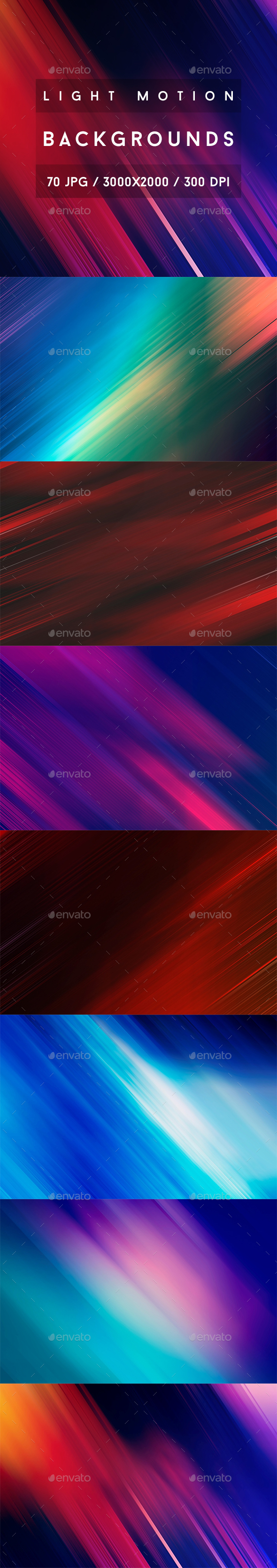 70 Light Motion Backgrounds - Abstract Backgrounds
