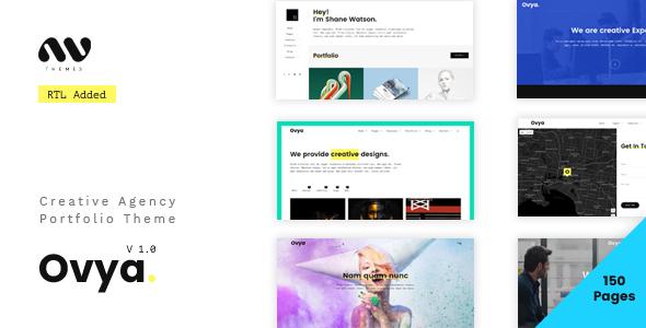 Ovya – Minimal Agency Portfolio Template