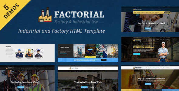 Factorial - Industrial And Engineering HTML Template - Business Corporate