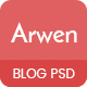 Arwen Creative Blog PSD Template - ThemeForest Item for Sale