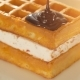 Belgium Waffles with Melted Chocolate - VideoHive Item for Sale