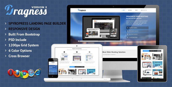 Dragness - Premium WordPress Landing Page - Marketing Corporate