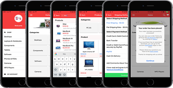 Opencart Mobile App - CodeCanyon Item for Sale
