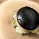 Black Burger on Wooden Background. - VideoHive Item for Sale