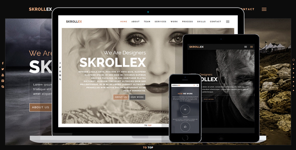 Skrollex - Creative One Page Parallax - Creative Site Templates