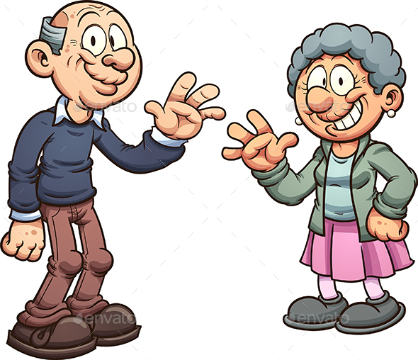 Cartoon Grandparents - People Characters