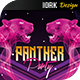 Panther Night flyer and poster - GraphicRiver Item for Sale