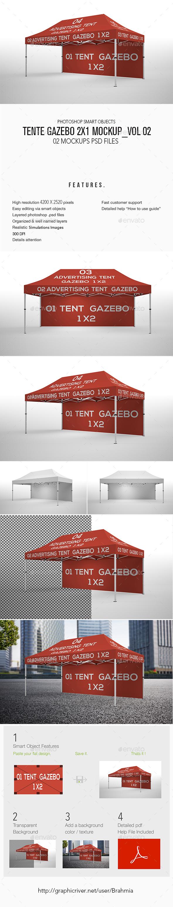 Tente Gazebo 2x1 Mockup_Vol 02 - Miscellaneous Print