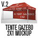 Tente Gazebo 2x1 Mockup_Vol 02 - GraphicRiver Item for Sale