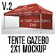 Tente Gazebo 2x1 Mockup_Vol 02 - GraphicRiver Item for Sale