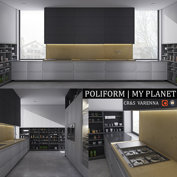 Kitchen Varenna My Planet - 3DOcean Item for Sale