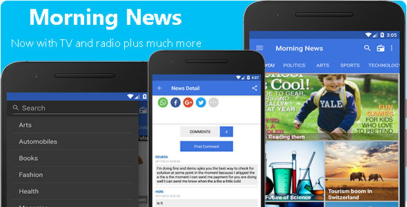 Morning News - News Android App - CodeCanyon Item for Sale