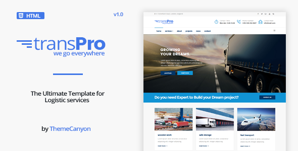 TransPro - Transport & Trucking Logistics HTML 5 Template - Business Corporate