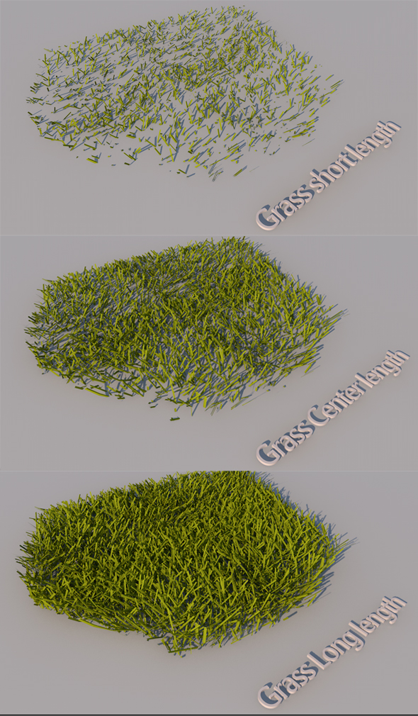 Grass of a different size - 3DOcean Item for Sale