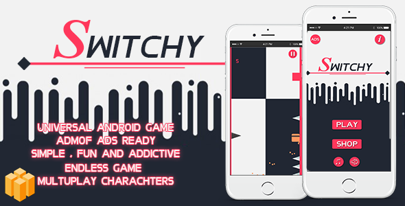 Switchy Game Template | Admob (Banner + Interstitial ) +in game purchase - CodeCanyon Item for Sale