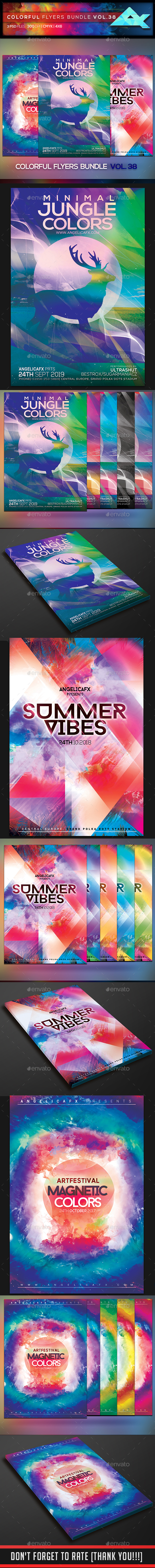 Colorful Flyers Bundle Vol. 38 - Events Flyers