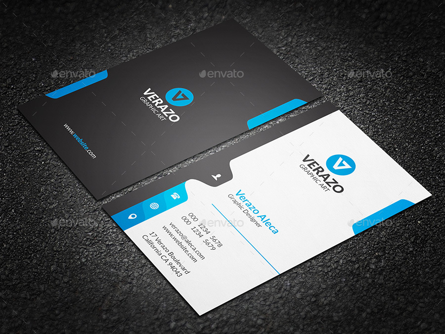 Creative vertical business card template by verazo graphicriver creative vertical business card template corporate business cards 01 previewsetg colourmoves