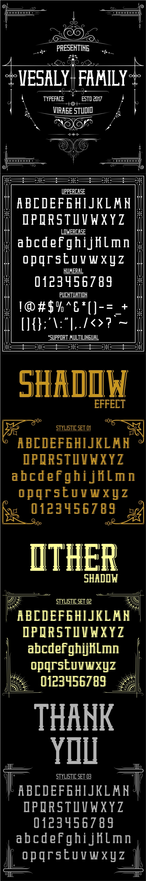 Vesaly Family - Decorative Fonts