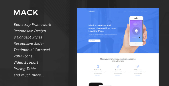 Mack – 8 in 1 Multipurpose Landing Page