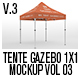 Tente Gazebo 1x1 Mockup Vol 03 - GraphicRiver Item for Sale