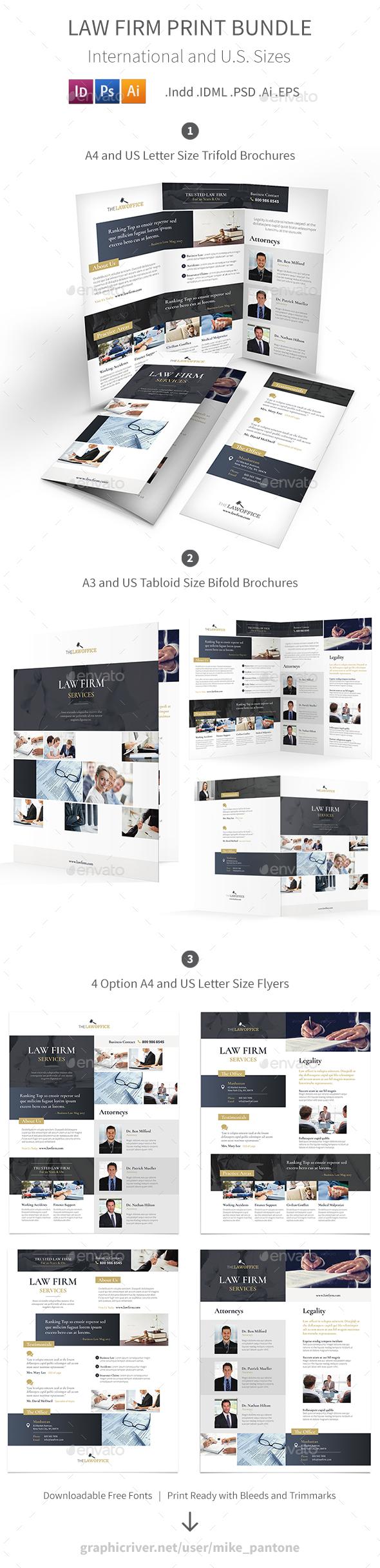Law Firm Print Bundle - Corporate Brochures