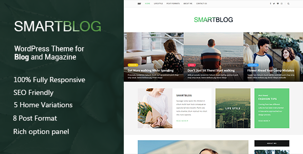 SmartBlog – A Responsive WordPress Blog Theme